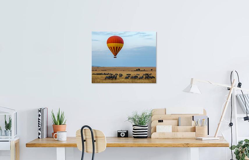 """""""Hot Air Balloon over the Savannah"""" - Zebra Print"""