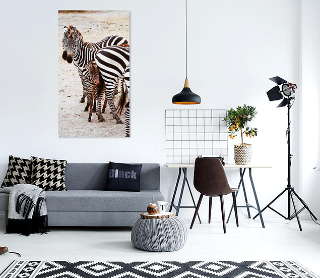 """Supported"" - Zebra Print"