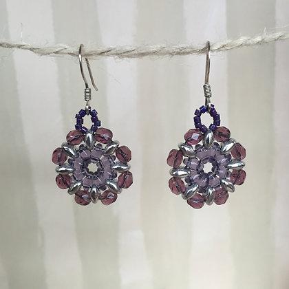 Purple Blossom Earrings