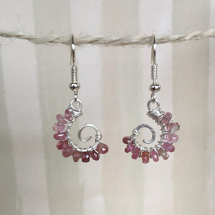 Tourmaline Spiral Earrings