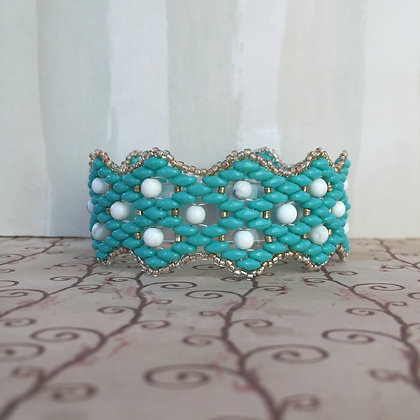 Turquoise Lattice Bracelet