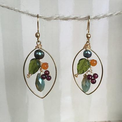 Berry Bouquet Earrings