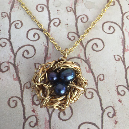 Navy Pearl Gold Nest