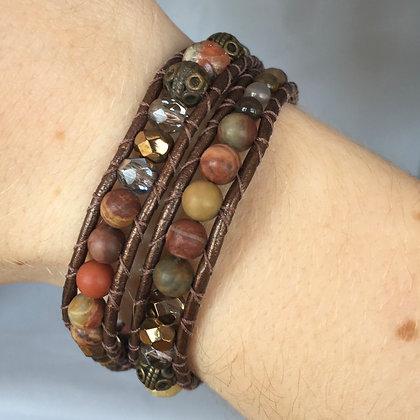 Autumn Agate Bracelet