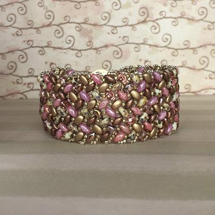 Rose Gold Herringbone Bracelet