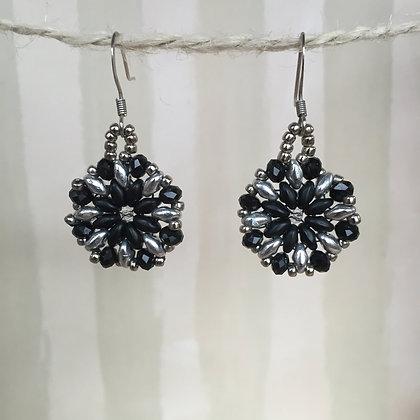 Black Blossom Earrings