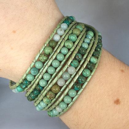 Mixed Green Stone Bracelet