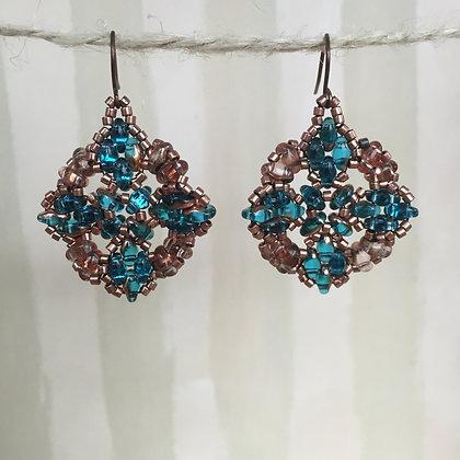 Ocean Quatrefoil Earrings