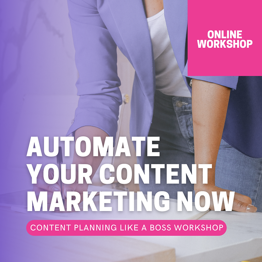 CONTENT PLANNING LIKE A BOSS