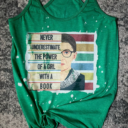 RBG - Never underestimate the power of a girl with a book - tank