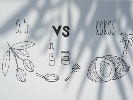Olijfolie vs kokosolie