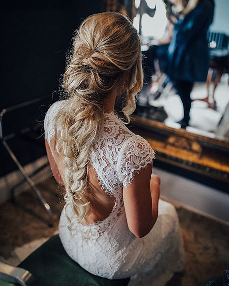 Back of bride's hair