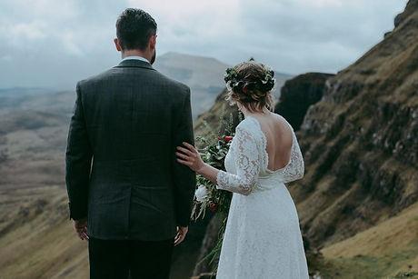 Bride and Groom in Skye