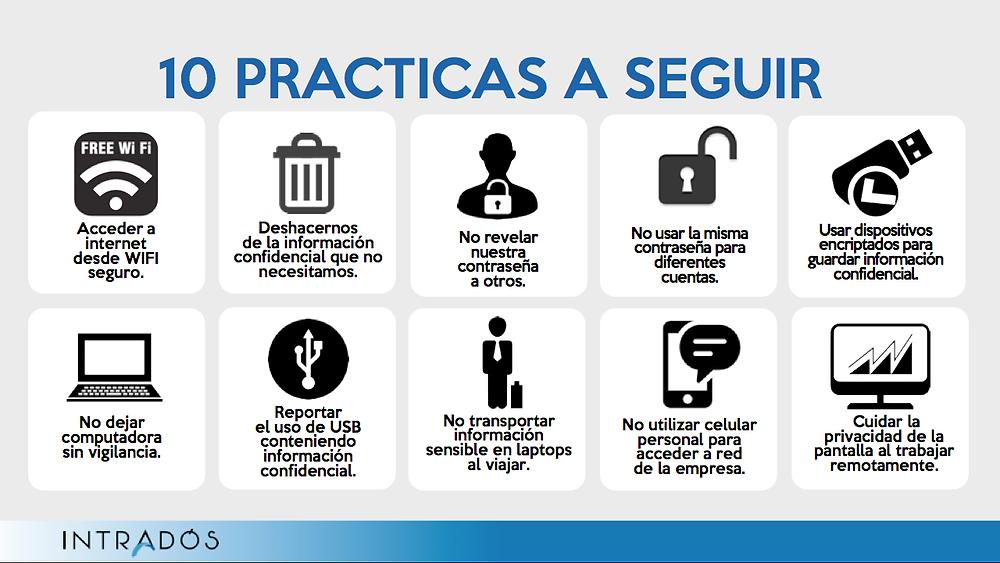 diez buenas prácticas de seguridad informática