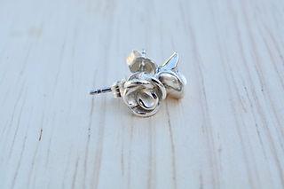 Handmade Fine Silver Rose Earrings.jpg