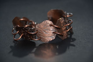 Handmade copper bracelet for women