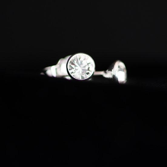 April Birthstone Earrings - Swarovski Crystal - Crystal