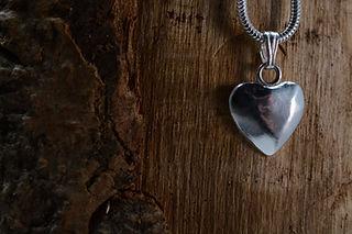 Handmade silver heart