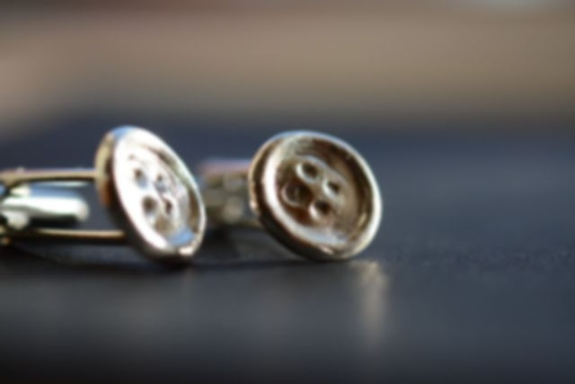 Button cufflinks made from the finest silver by SilvaFush Jewellery