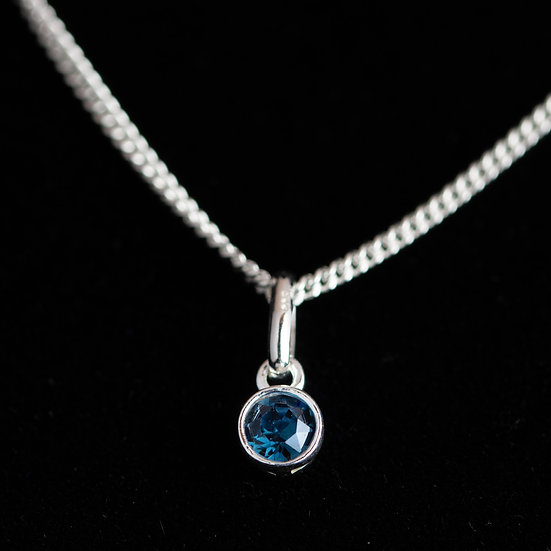 December Birthstone - Swarovski Crystal - Blue Zircon