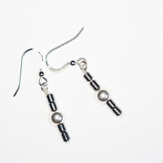 Hematite Dangles - Earrings