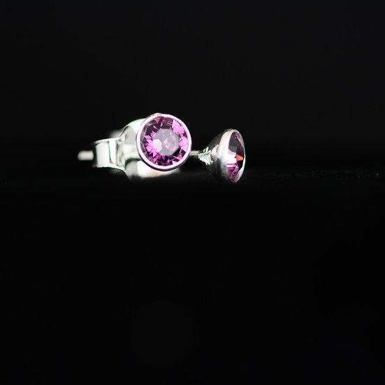 February Birthstone Earrings - Swarovski Crystal - Amethyst