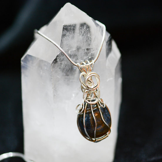 Blue Tigers Eye - Necklace