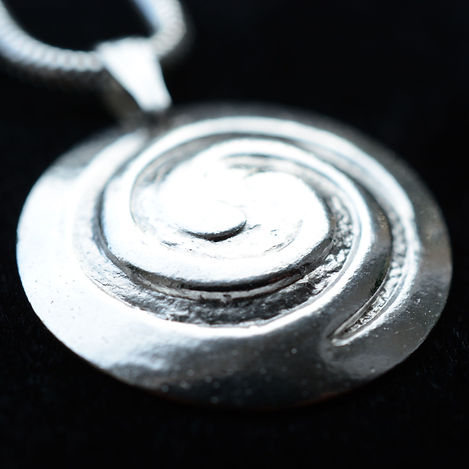 fine silver necklace called swirls