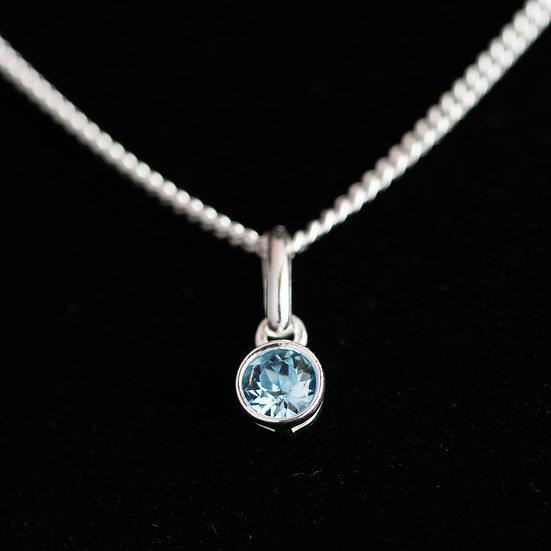 March Birthstone - Swarovski Crystal - Aquamarine