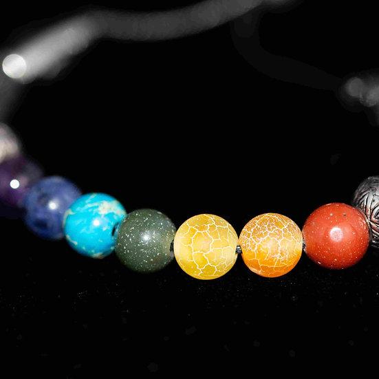 Natural Gemstone Chakra or Rainbow Bracelet