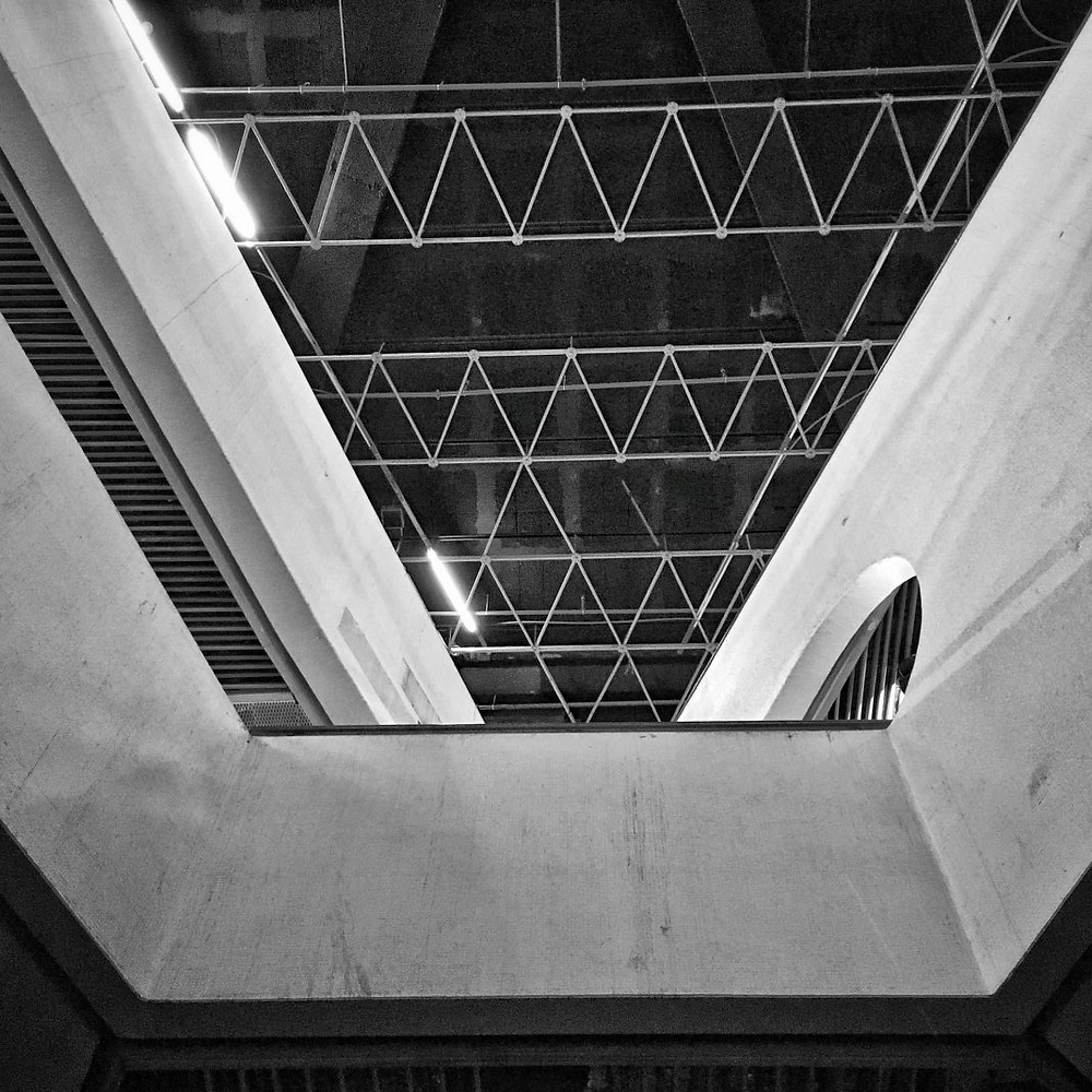 """Architectural detail from the inside of """"New Central Bus Station"""""""