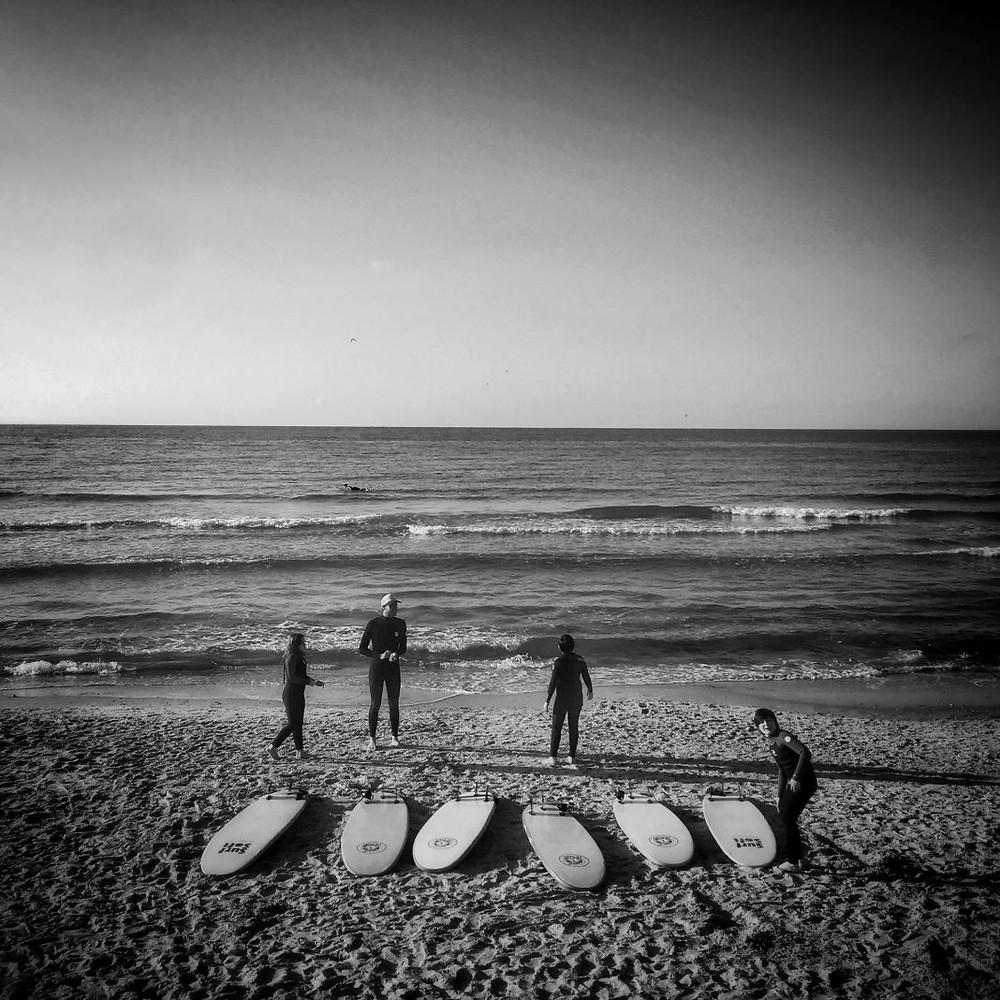 Surfers at Alma beach