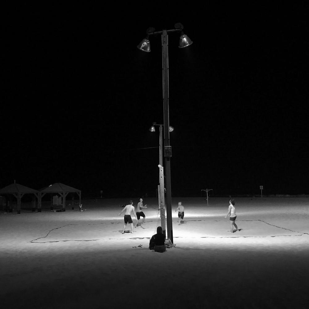 Night game at Gordon Beach