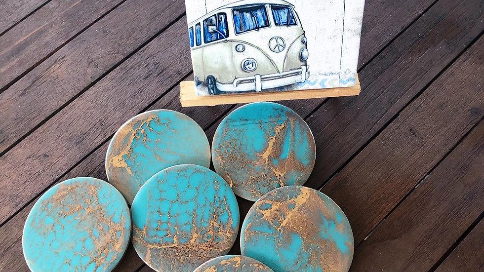 6 Round Resin Coasters