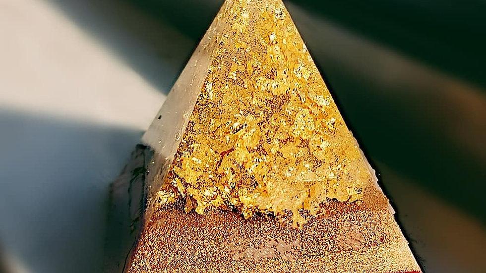 Small resin pyramid