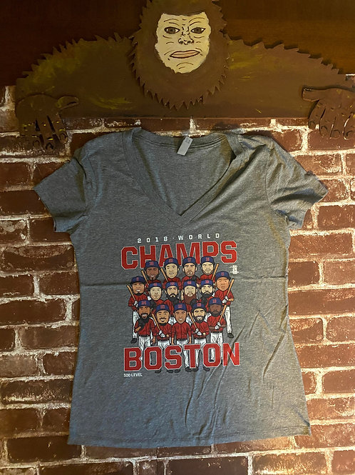2018 World Champs Boston V-Neck