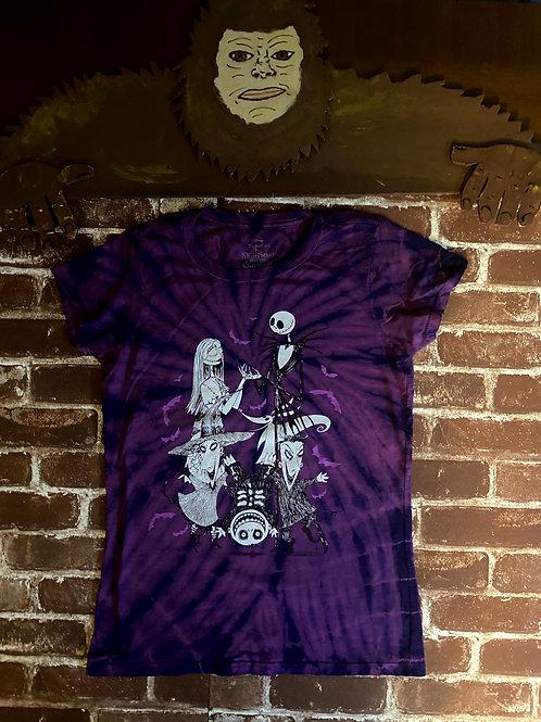 Purple Tye-Dye Nightmare Before Christmas: Adult Tee