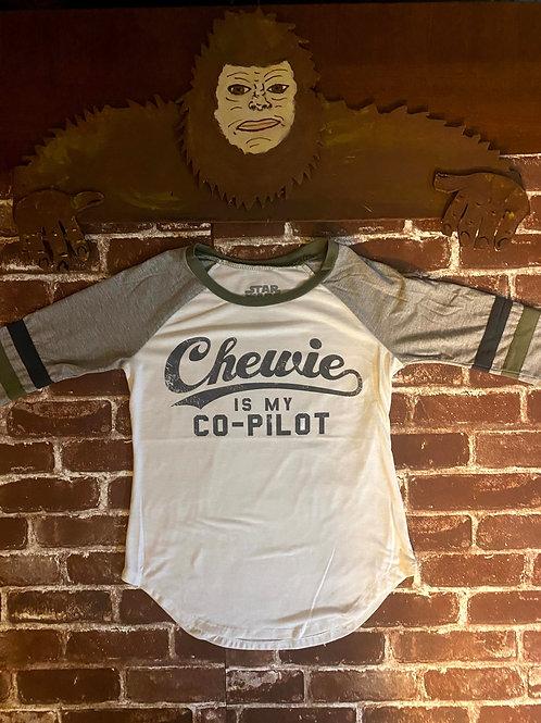 Chewie is my Co-pilot 3/4 Sleeve