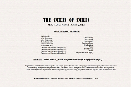 """THE SMILE OF SMILES"" - Music for Jazzorchestra (Score & Parts)"