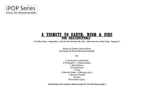 A TRIBUTE TO EARTH, WIND & FIRE (Score & Parts)