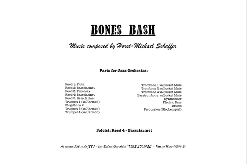 """BONES BASH"" - Music for Jazzorchestra (Score & Parts)"