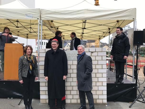 Grundsteinlegung Gesamtschule St. Josef, Bad Honnef mit Kardinal Rainer-Maria Woelki