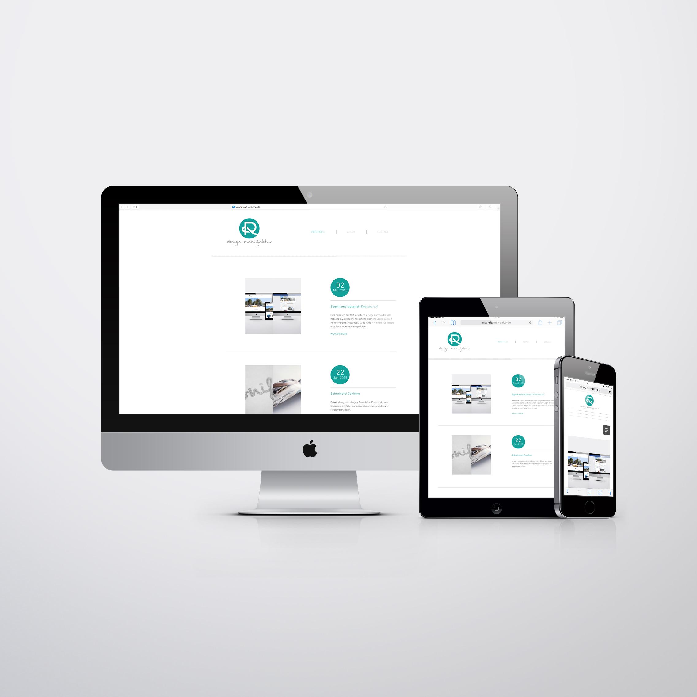 Design Manufaktur Raabe Webseite