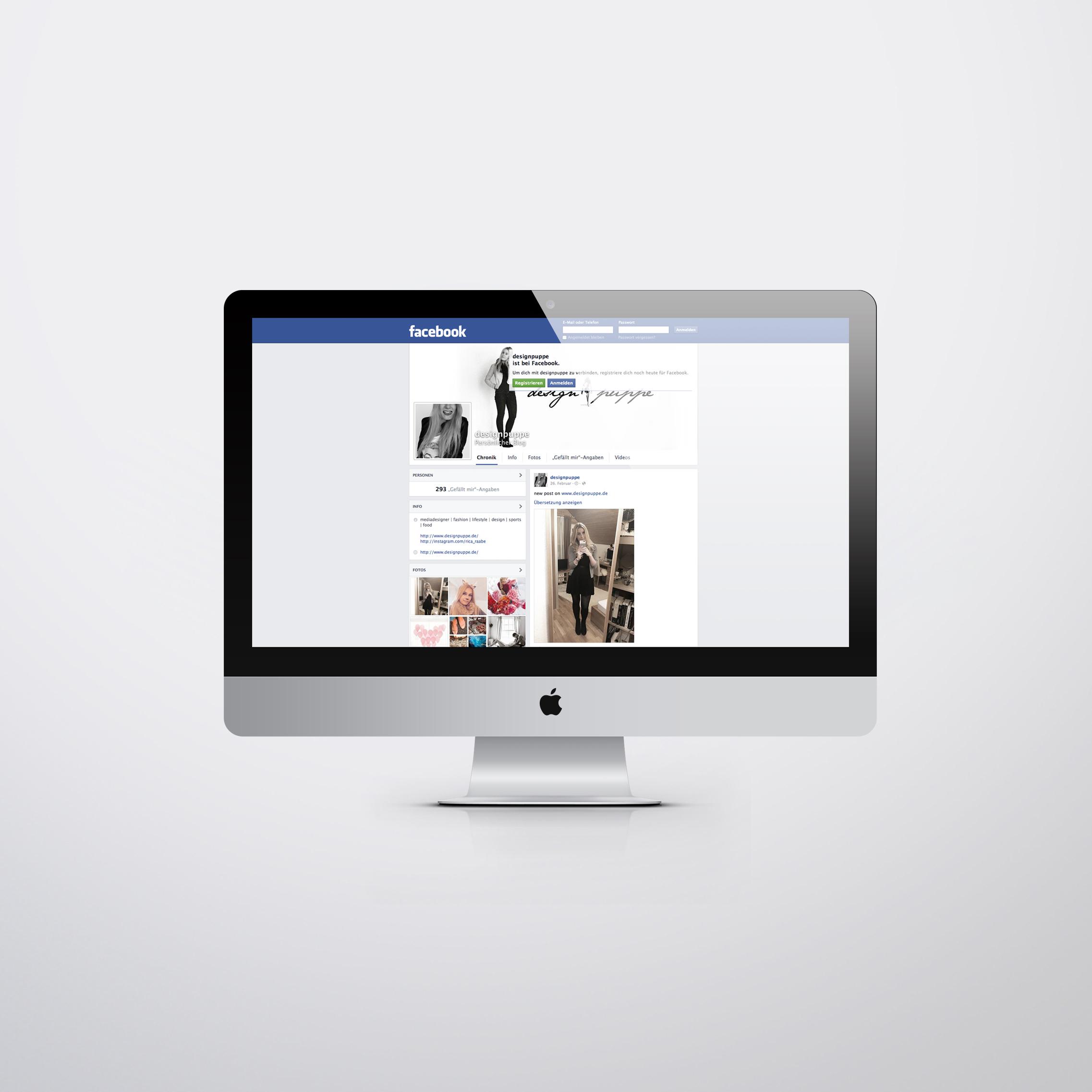 Designpuppe Facebook Fan-Seite