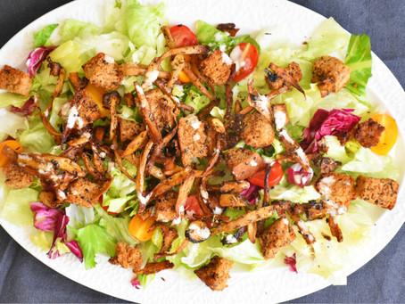 Veganský Caesar salát