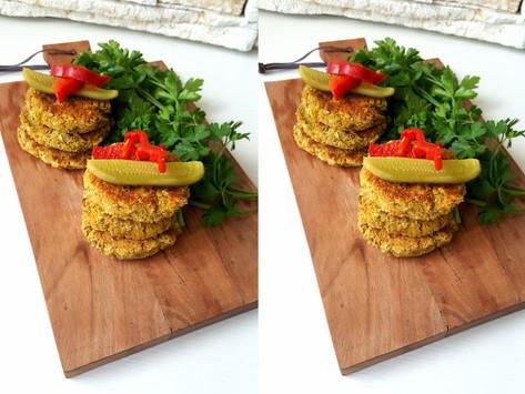 Hráškové falafelové placičky