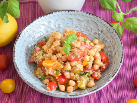 """Caprese"" Quinoa Salát"