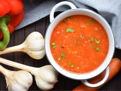 Kořeněná rajčatová polévka