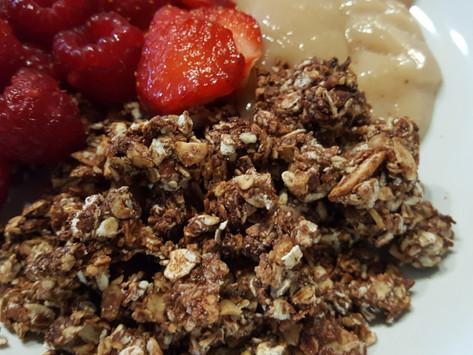 Domácí čokoládová granola (müsli)