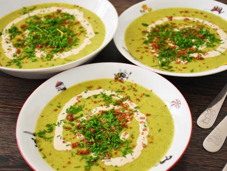 Brokolicová polévka s bílými fazolemi